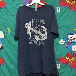 Polo Ralph Lauren NAVY BLUE Marine Supply T Shirt